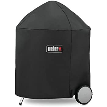 Weber 7153 Grill Cover with Storage Bag for 26.75-Inch Charcoal Grills, 26.75 Inch