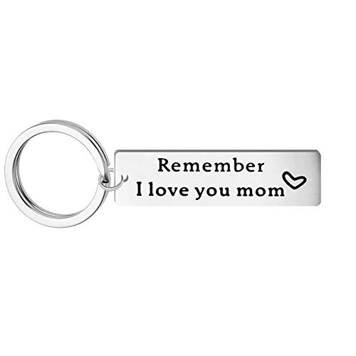 - Kisseason Remeber I Love You Mom Keychain Jewelry for Mom Mother Keyring Heart Charm from Son Daughter