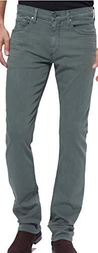 Paige Men's Jean Federal Vintage Dark Forest Slim Straight Jeans M655799 7026 (31) - Model Paige