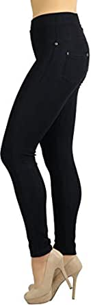 ToBeInStyle Women's Super Skinny Fit Soft Knit Moleton Jeggings