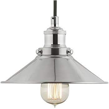 linea di liara andante industrial factory pendant lamp brushed nickel onelight fixture with