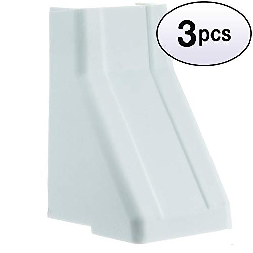 GOWOS (3 Pack) 1.25 inch Surface Mount Cable Raceway, White, Ceiling Entry