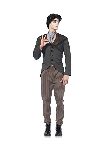 Victor Corpse Bride Costume - 4 PC. Men's Victor Corpse Bride Jacket Set - Small - Grey