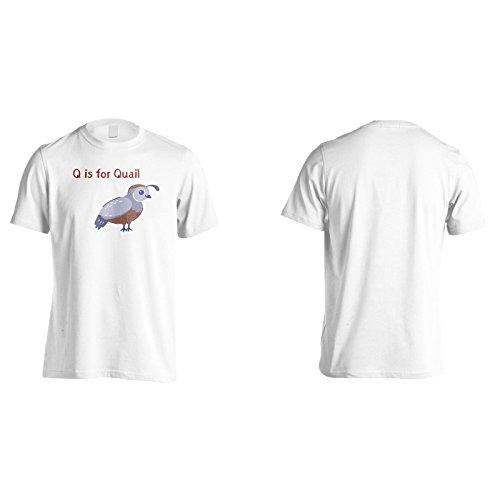 Neue Q Für Wachteln Lustig Herren T-Shirt l402m