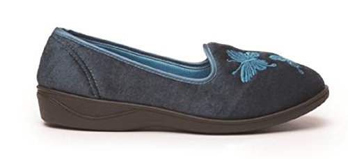 Koo-T - Zapatillas de estar por casa de Material Sintético para mujer Serafina Petrol Blue