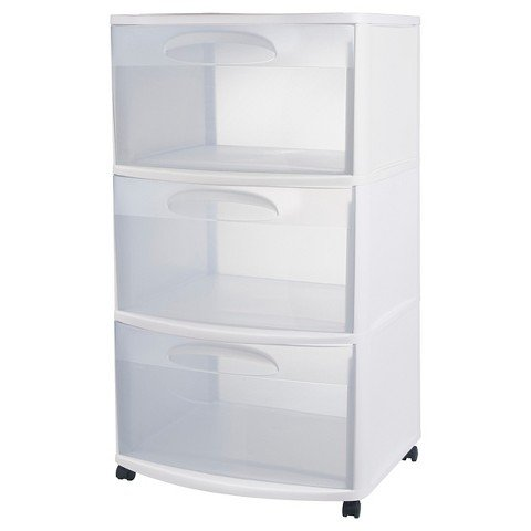 Sterilite® 3-Drawer Large Cart - White