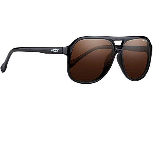 NECTAR Classic Plastic Aviator Sunglasses w/ Polarized Euphoric HD Lenses & UV Protection (Black Frame | Amber Euphoric HD Polarized - In Replace Lenses You Sunglasses Can
