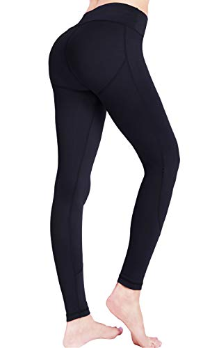 Soft High Waisted Yoga Leggings for Women,Spanx Tummy Control Leggings with Pockets,Athletic Running Workout Leggings Sports Gym (Best Leggings Not See Through)