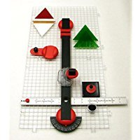 Creator's Beetle Bits Mini Glass Cutting System Portable Work Station For Geometric Shapes COMPLETE WITH 2 Waffle Grids AND Push Button Flying Beetle Glass Cutter INCLUDED - DIY - Made In The USA by Creator's (Image #4)