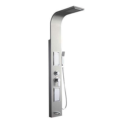 電気メッキレトロな蛇口ドイツ304ステンレス鋼線シャワーシャワーシャワーセットバスフル銅シャワーシャワーセット, シルバーとホワイト,SilverandWhite B07PHNLTPN SilverandWhite