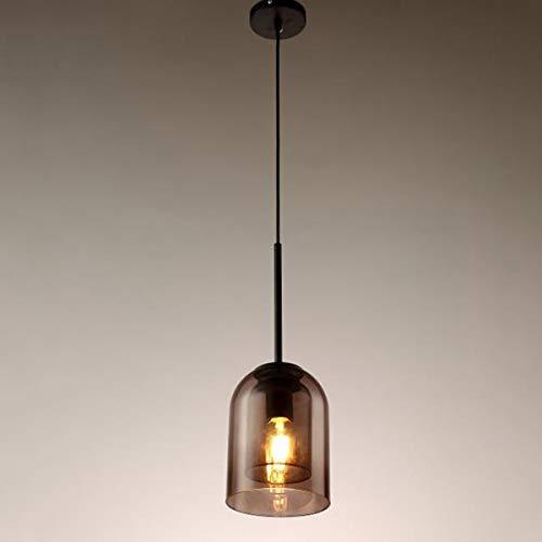 EnweLampi Lampara Colgante de Cristal Dome, lampara de Techo excepcional, Altura Regulable, para Mesa de Comedor, Dormitorio, Barra de cafe, iluminacion de Espacio de Lectura
