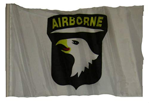 (ALBATROS 12 inch x 18 inch U.S. Army Airborne White Sleeve Flag for use on Boat, Car, Garden for Home and Parades, Official Party, All Weather Indoors Outdoors)