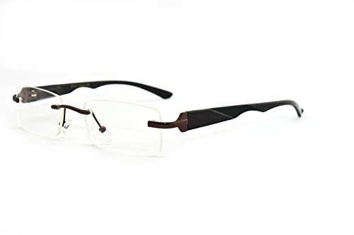 Newbee Fashion® - Unisex Squared Spring Hinge High Quality Fashion Clear Lens - Glasses On Written Prescription