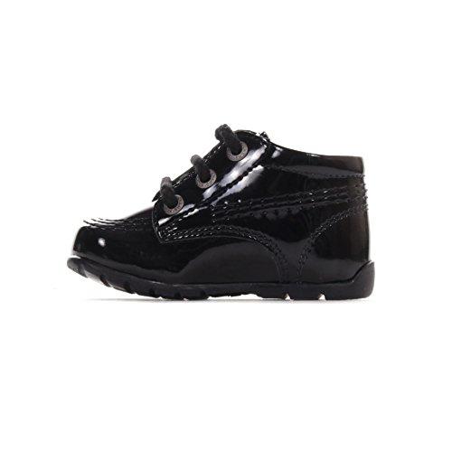 Kickers Kick Hi Baby Brevet Tout-petit Enfant Chaussures Enfant Chaussure Noir