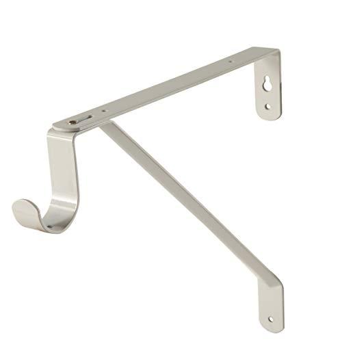 Desunia Adjustable Closet Rod & Shelf Support Bracket - White - 1 Piece (Rods Closet Brackets And Shelf)