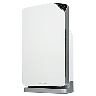 Brondell O2+ Balance True 3-Stage Carbon Filtration Hepa Air Purifier, White