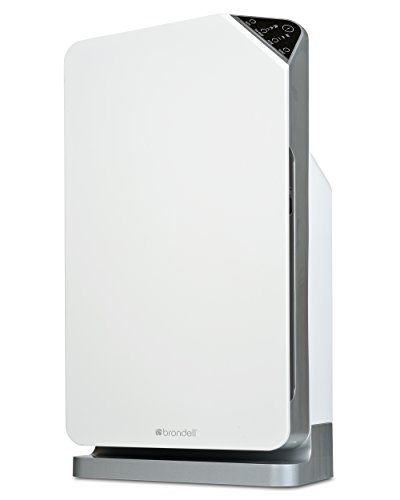 Brondell O2+ Balance Air Purifier with True HEPA and Carbon Filtration for Odor and VOCs, White