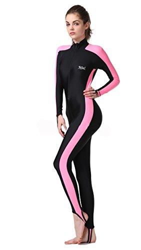 Sonnenschutz Langarm-Rollkrageneinteiligen Badeanzug Neoprenanzug für Frauen
