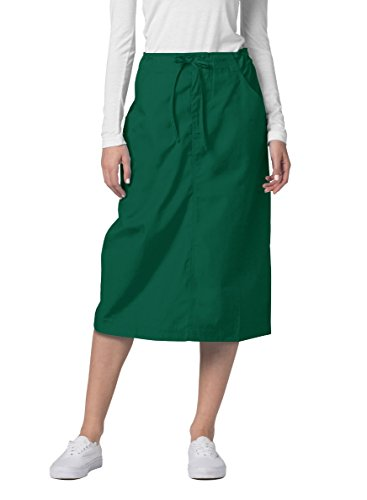 Adar Universal Mid-Calf Length Drawstring Skirt (Available is 17 Colors) - 707 - Hunter Green - Size 12 from Adar Uniforms