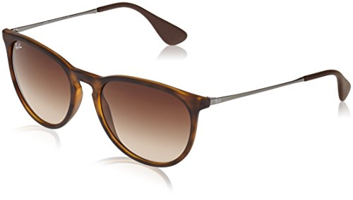 (Ray-Ban RB4171 Erika Round Sunglasses, Dark Rubber Tortoise/Brown Gradient, 54 mm)
