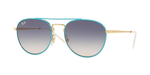 Ray-Ban Women's Metal Woman Square Sunglasses, Gold Top on Light Blue, 55 - Ray Sunglasses Frame Colored Ban