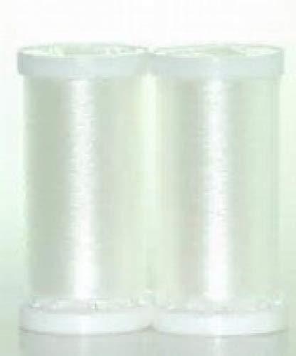 Two birds - Confezione di 2rocchetti di nylon per filati, filo per cucire, 200 m, colore: trasparente