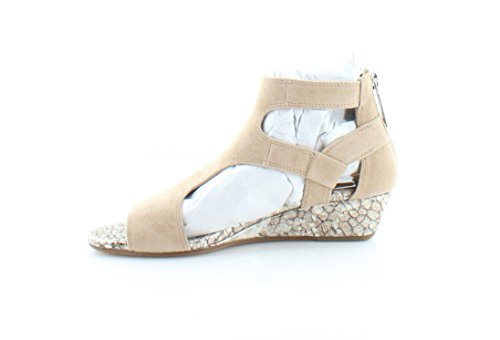 Donald J Pliner Mujeres Eden-ks26 Wedge Sandal Natural Kid Suede
