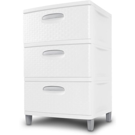 3 Weave Drawer Unit, White (Cart Sterilite Craft)