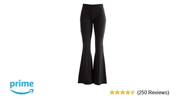 a4f677e651ff Fashionomics Womens Boho Comfy Stretchy Bell Bottom Flare Pants at Amazon  Women s Clothing store