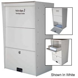 (Jayco LLAXLW Wall Mount X-Large Aluminum Letter Locker Mailbox Tan )