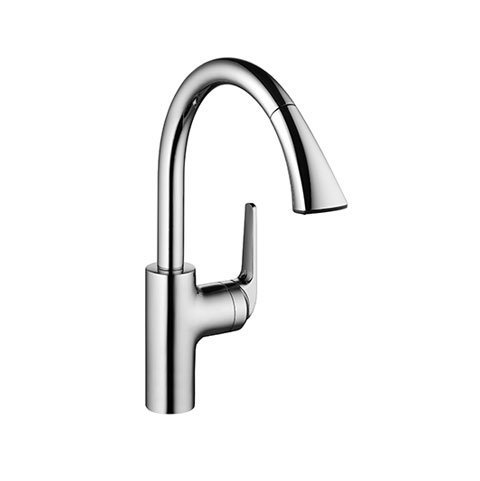 KWC Faucets 10.061.004.127 DOMO Pull Down Kitchen Faucet, Splendure Stainless ()