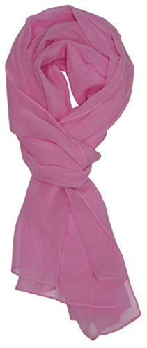 Ted and Jack - Solid Color Silk Blend Lightweight Accent Scarf (French Rose)