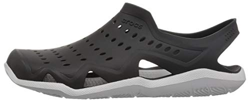 Crocs Men's Swiftwater Wave M Sport Sandal Black/Pearl White 5 M US by Crocs (Image #5)
