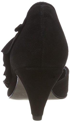010 femmes talons Pump chaussures à hauts noires noir chaussures Mentor pour RwvaqZwn