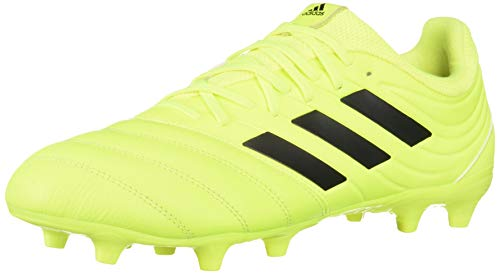 (adidas Men's Copa 19.3 Firm Ground Soccer Shoe, Black/Solar Yellow, 8.5 M US)