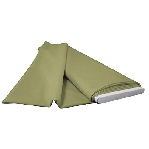 Sage 10 Yard - LA Linen 10-Yard Polyester Poplin Flat Fold, Dark Sage
