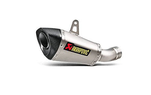 (Akrapovic Titanium Short Conical Slip-on Exhaust with Carbon Fiber EndCap for 2016 Kawasaki ZX10R S-K10SO17-ASZ )
