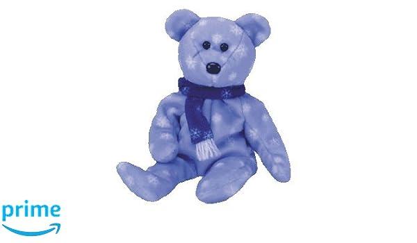 TY Beanie Baby - Peluche Animaux - Teddy lOurs de lHiver: Amazon.es: Juguetes y juegos