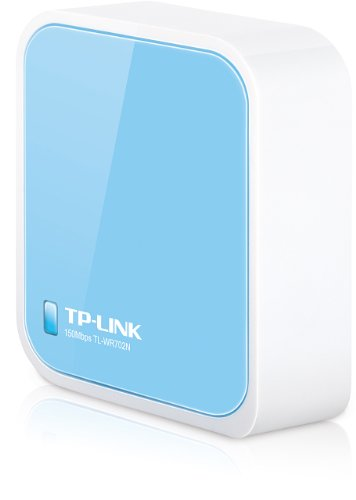 TP-LINK TL-WR702N Wireless N150 Travel Router, Nano Size, Router/AP/Client/Bridge/Repeater Modes, 150Mpbs, USB Powered