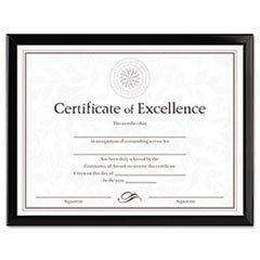 - (6 Pack Value Bundle) DAXN17000N Value U-Channel Document Frame w/Certificates, 8-1/2 x 11, Black