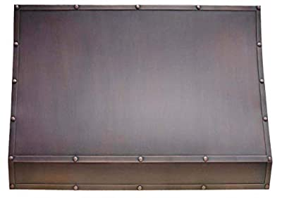 "Sinda Copper Kitchen Range Hood with High Airflow Centrifugal Blower, Includes SUS 304 Liner and Baffle Filter, High CFM Vent Motor, Wall/Island/Ceiling Mount, Width 30/36/42/48 in (W30""xH42""Wall)"