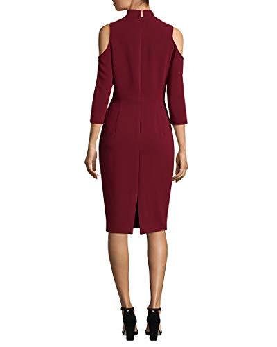 Dress Sergie Cold Shoulder Womens Sheath 0 Halo Black xAYfO
