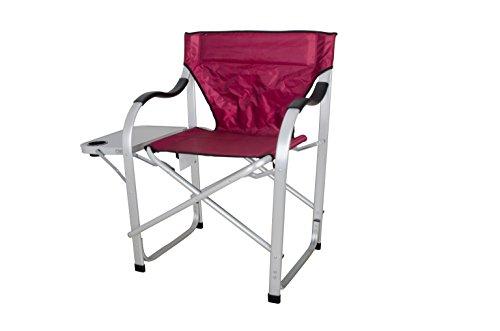 Chairs Stylish Camping Sl1215 Burgundy Heavy Duty Folding