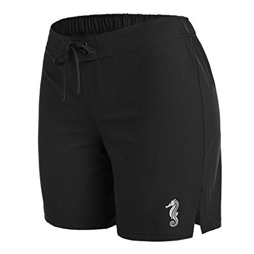 anfilia Womens Quick Dry Boardshorts Long Swim Shorts Trunks Beach Shorts