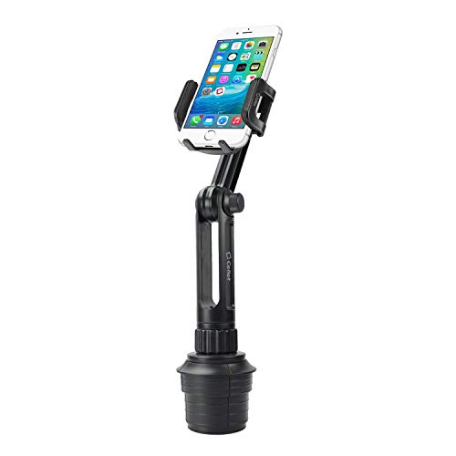 Cellet Car Cup Holder Mount for Apple iPhone Xr Xs Max X 8 7 Samsung Note 10 9 8 Galaxy S10e S10 Plus S9 Plus S8 Plus LG V40 G7 G6 Q7+ Stylo 4 V35 Moto G6 X4 Google Pixel 3 XL (Long Neck 13in)