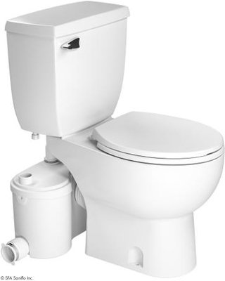 Saniflo Sanibest Grinder Pump with Round White Toilet