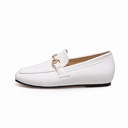 Latasa Dames Slip Op Loafers Schoenen Wit