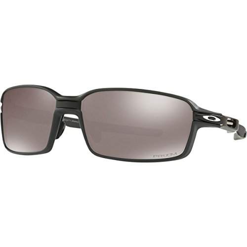 Oakley Men's Carbon Prime Polarized Iridium Rectangular Sunglasses, Black/Carbon Fiber, 64.0 - Sunglasses Oakley Carbon