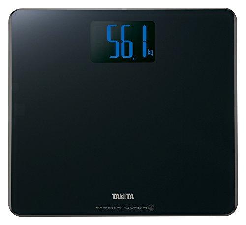 TANITA 디지털 체중계 블랙 올라서는 것만으로 전원이 켜지 단계 온식  HD-366-BK