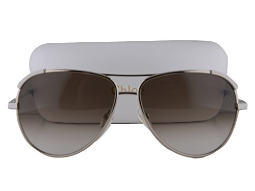 Chloe CE118S Sunglasses Light Gold/Light Gray w/Brown Gradient Lens 727 CE 118S